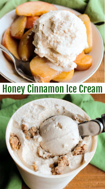 Creamy ice cream with the sweetness on honey and goodness of cinnamon mixed is is always delicious. Adding cinnamon crunchies makes it even better. This is the perfect ice cream to enjoy on its own or with so many desserts!