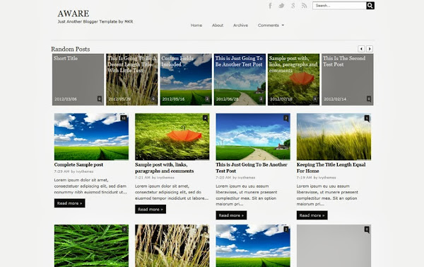 Aware Blogger Template