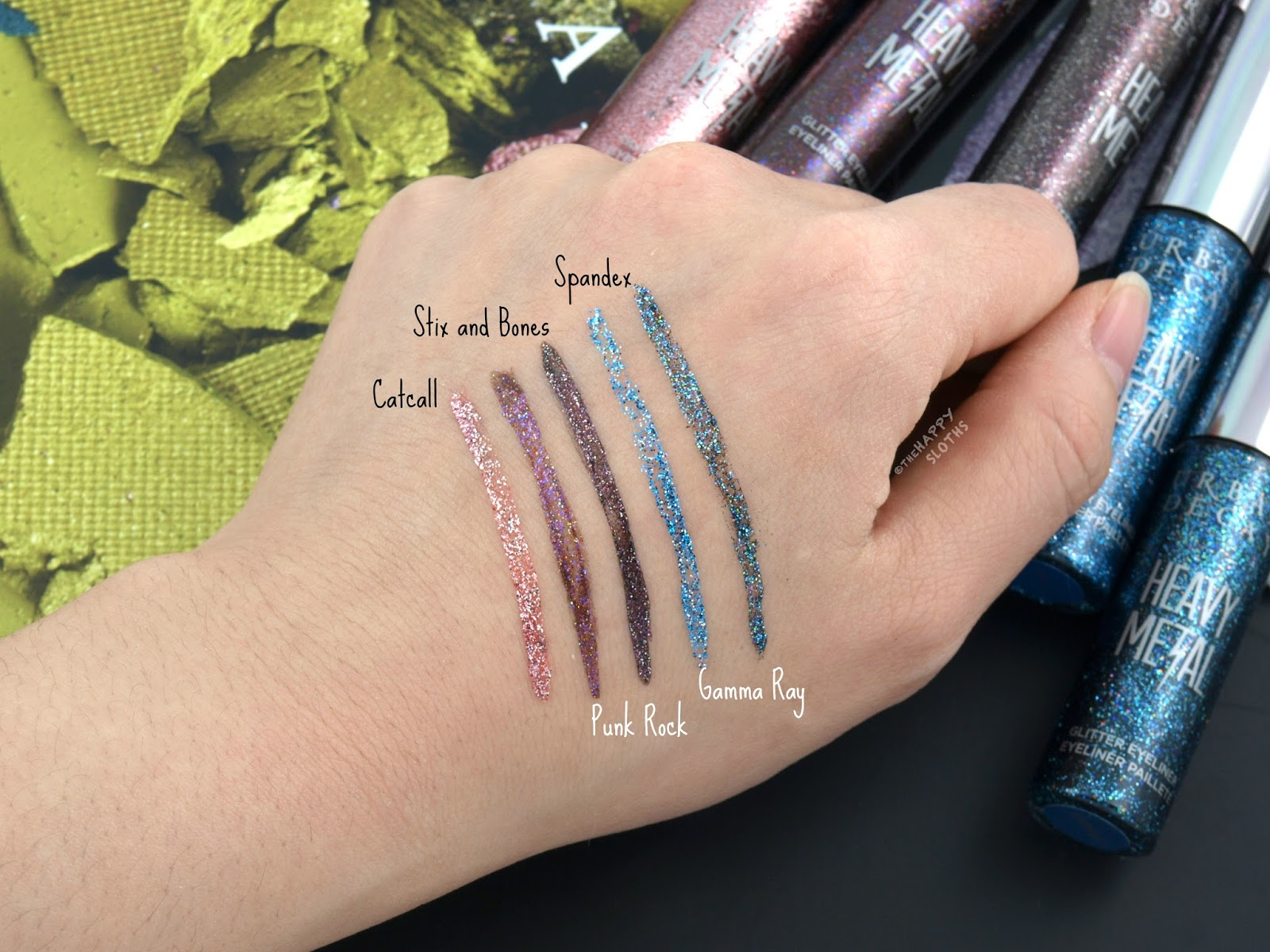 Urban Decay Heavy Metal Glitter Eyeliner: Review and Swatches
