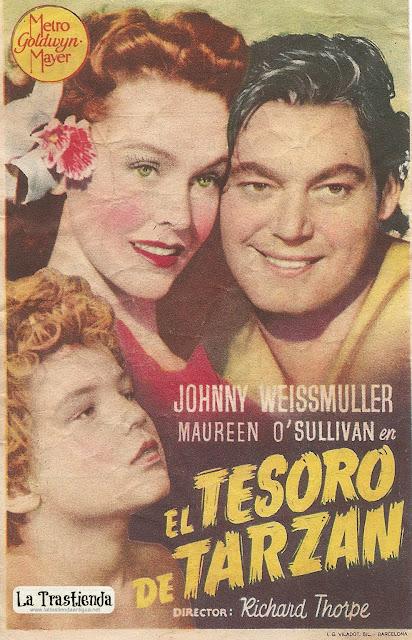 Programa de Cine - El Tesoro de Tarzán - Johnny Weissmuller, Maureen O'Sullivan