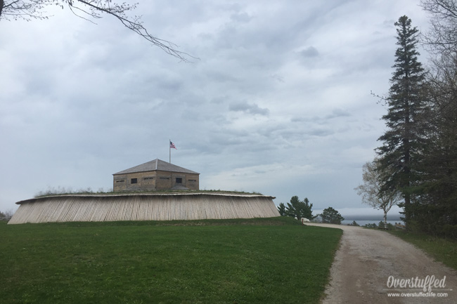 Fort Holmes is located on the highest point of Mackinac Island