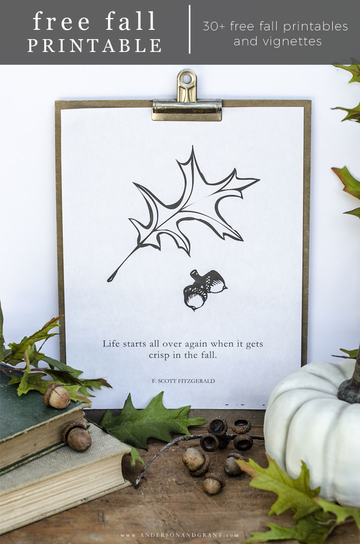Simple Fall Printable