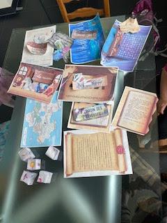 Kit de la box escape game La quête du diamant magique