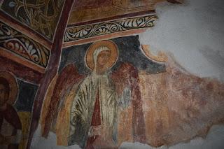 Женски ктиторски портрет на южната стена на храма в Билинския манастир