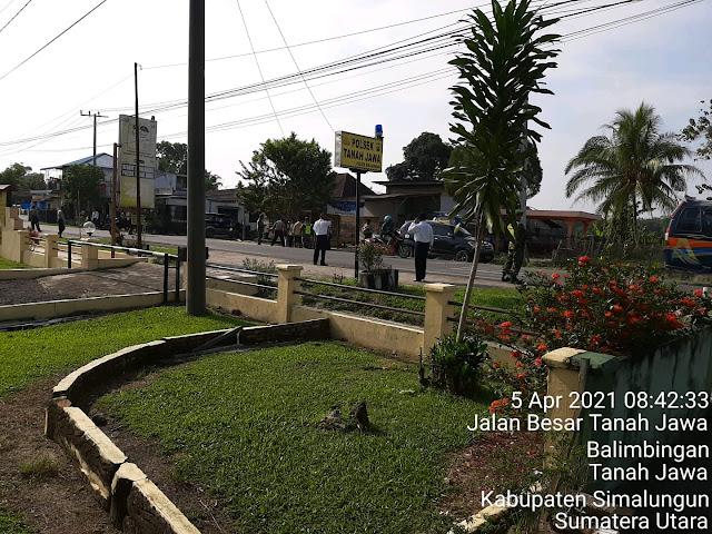 Operasi Yustisi DIlaksanakan Personel Jajaran Kodim 0207/Simalungun Bersama Personel Polsek Balimbingan