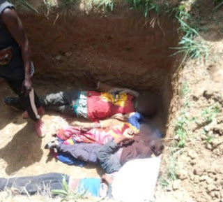 Suspected herdsmen slaughter pregnant woman, children, others in Plateau state, raze 23 houses (photos).