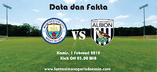 Data dan Fakta Fantasy Premier League Manchester City vs West Bromwich Albion Fantasi Manager Indonesia