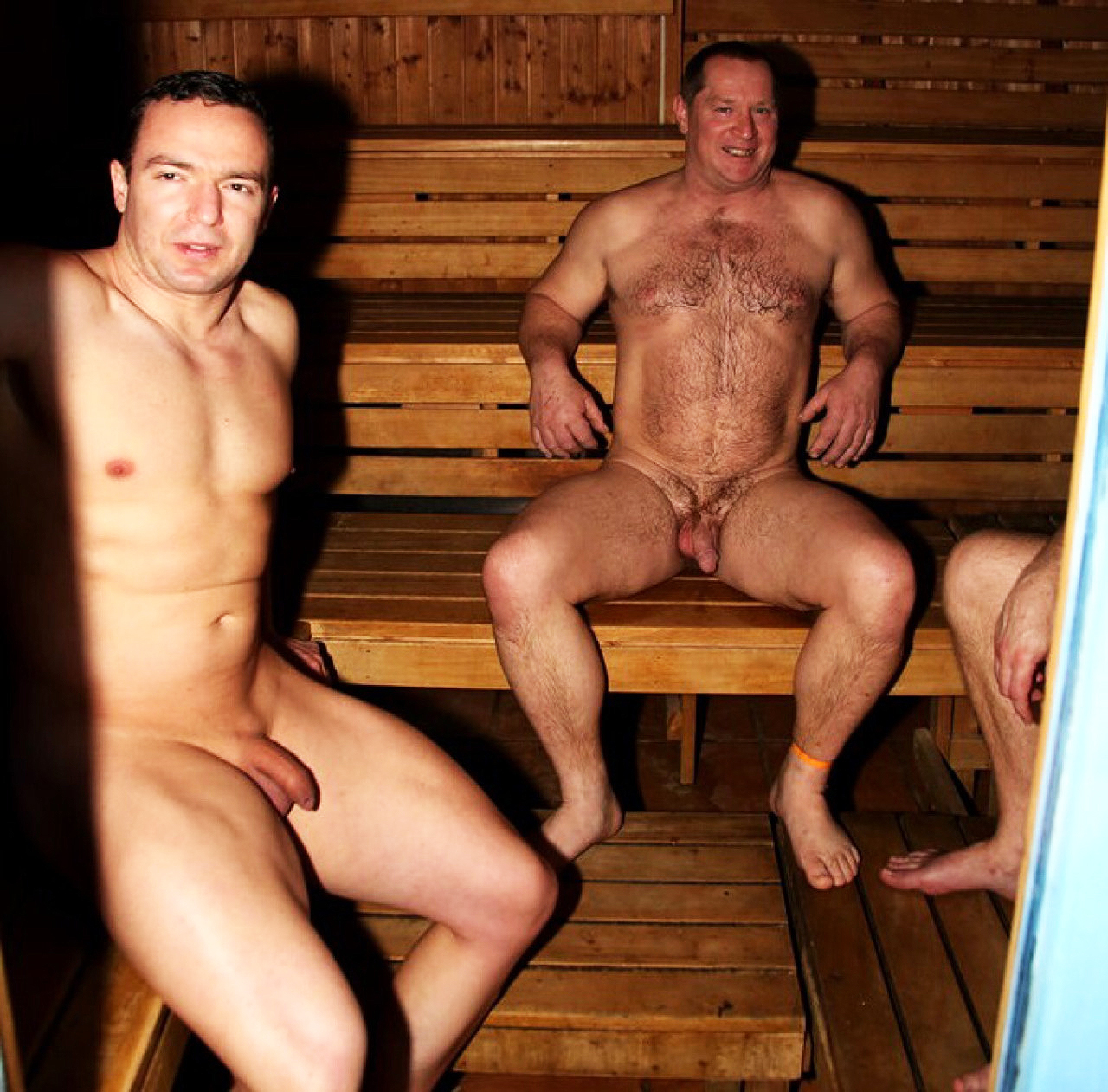 Something is. Men in saunas nude good when