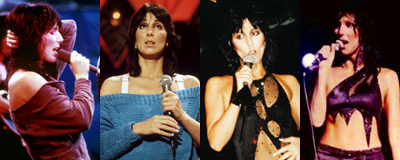 Cher during the 'Black Rose Tour'