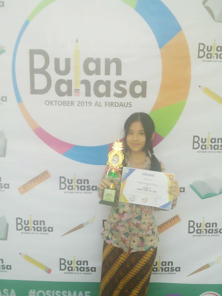 Alysha Angela Utama Juara 3 Lomba Story Telling
