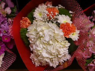 Bouquet with hydrangeas and other flowers