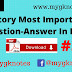 History Most Important Question-Answer PDF In Hindi Part = 3