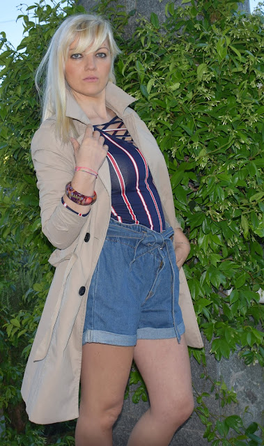 outfit a righe come abbinare le righe idee outfit a righe striped outfit how to wear stripes mariafelicia magno fashion blogger colorblock by felym fashion bloggers Italy Italian fashion bloggers blondie blonde hair teens outfit maglia tezenis