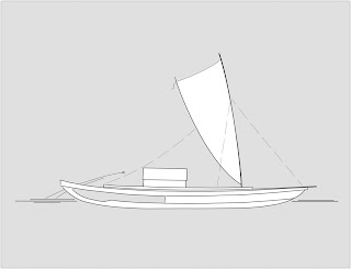 Proposed reconstruction of the Anewaka canoe as a double-hulled voyaging canoe