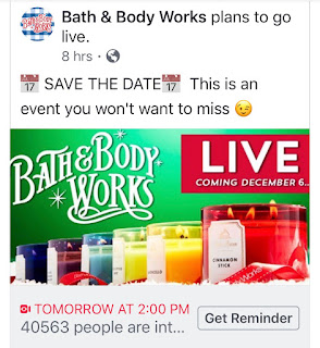 Bath & Body Works | Friday December 6, 2019 | Facebook Live - Candle Day