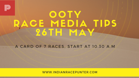ooty race media tips 26th may, trackeagle. racingpulse