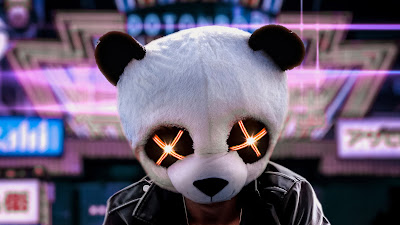 HD wallpaper Panda mask bright eyes