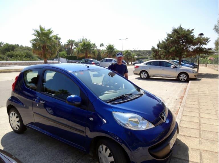 Alquiler, coche, Menorca