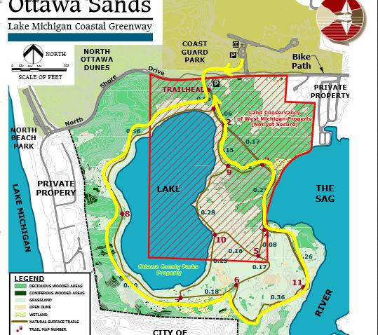 ottawa sands hike route map