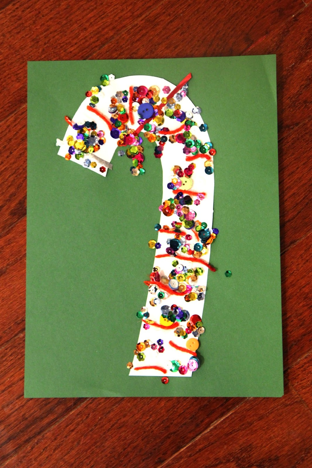 Toddler Approved Candy Cane Collage Craft For Toddlers