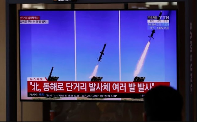 LOOK: North Korea Fires Barrage of Missiles From Both Ground and Air