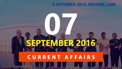 Current Affairs September 2016