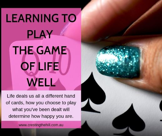 Life is what we make it - we get to choose to be joyful and not envious of others. It's all about how you choose to play the hand life deals you.