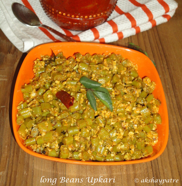 long beans sabzi is ready to serve.