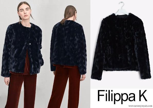 Crown Princess Victoria wore Filippa K Faux Fur Jacket