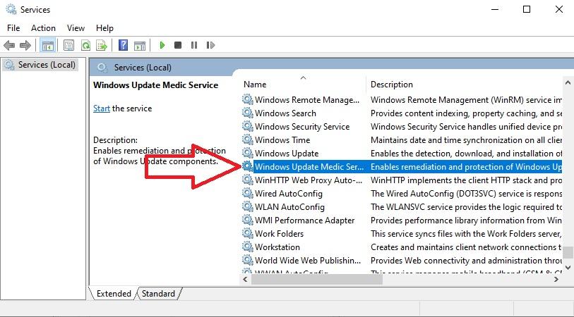 Windows Updtae Medic Service