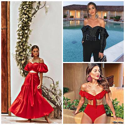 Escote bardot - Tendencia de moda 2019