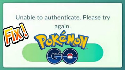 Cara Mengatasi Unable to Authenticate di Pokemon Go