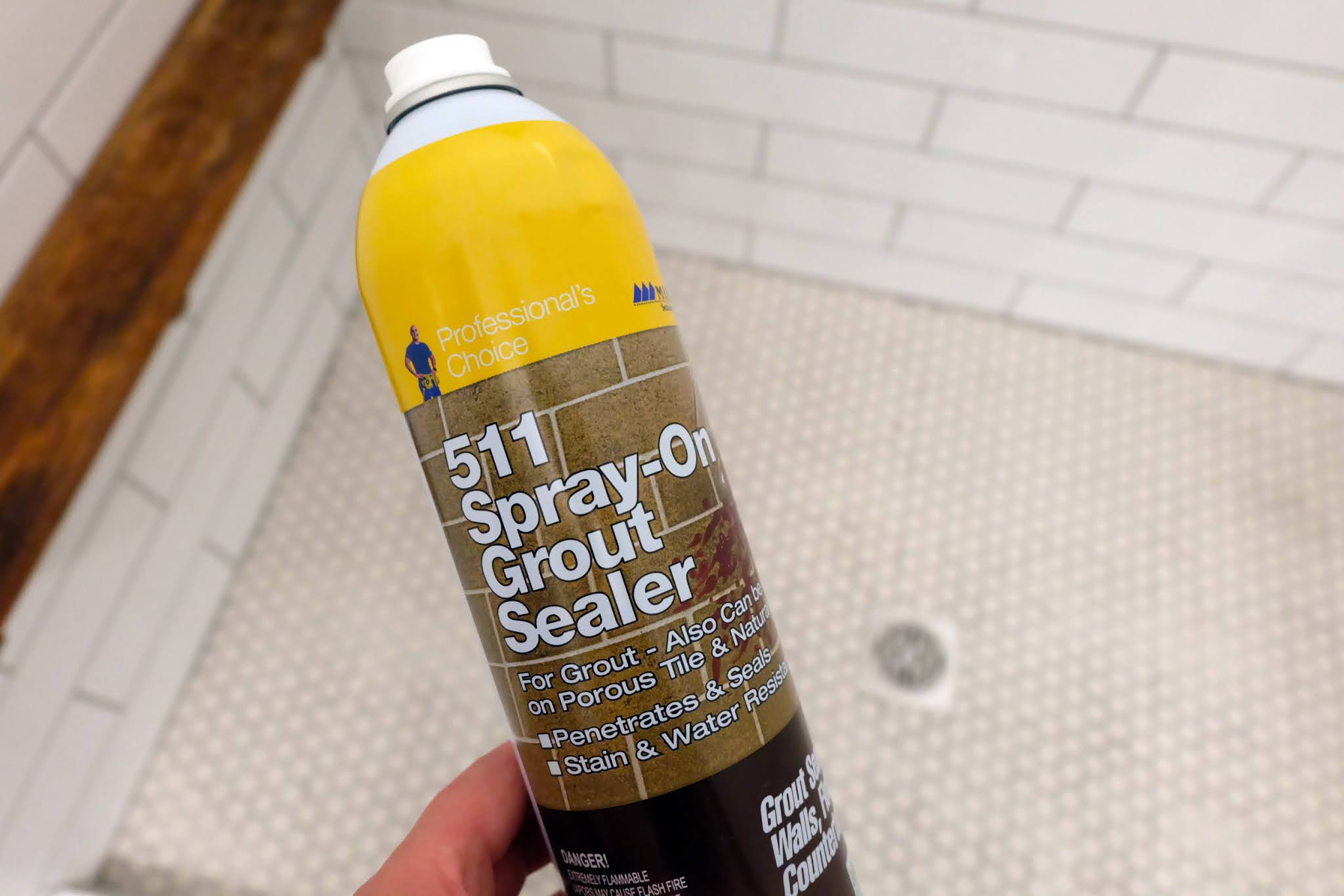 can of grout and tile sealer