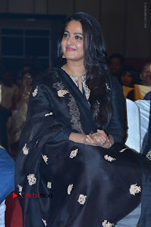 Actress Anushka Anushka Shetty Stills in Black Salwar Kameez at Om Namo Venkatesaya Audio Launch Event  0029.JPG