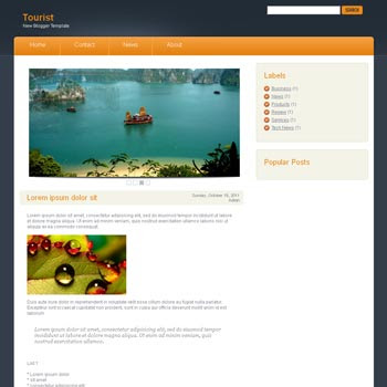 Tourist blog template. download blogger template magazine style