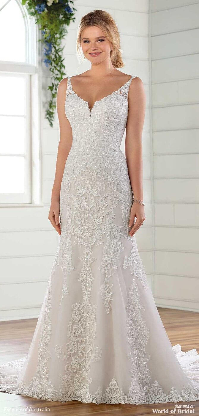 11785fe3920 Essense of Australia Spring 2019 Traditional Wedding Gown with Shaped Train
