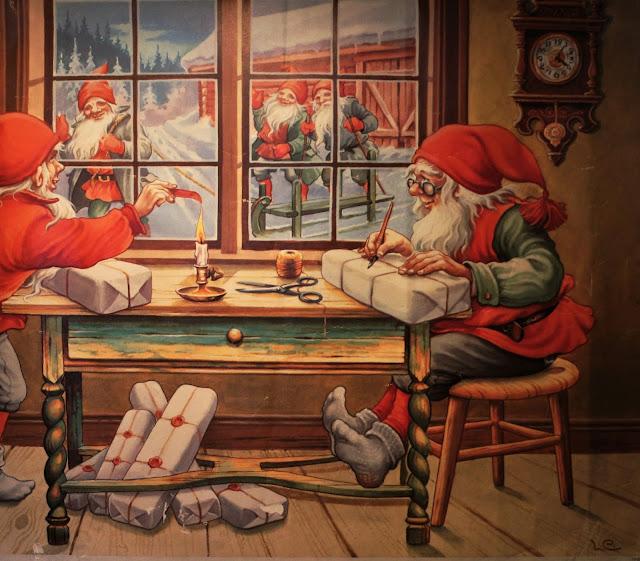 joulutaulu, tontut, joulupuuhat, Lars Eriksson