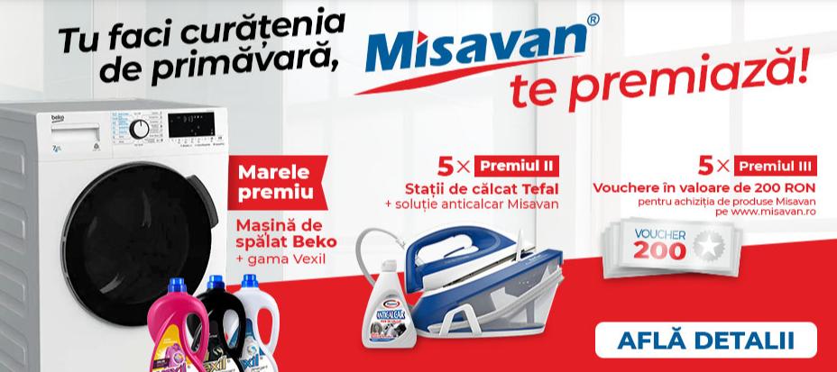 Concurs Misavan - Castiga o masina de spalat rufe Beko cu uscator - castiga.net - 2021