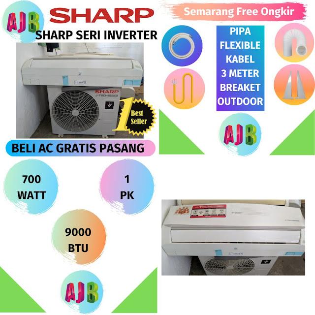 Jual AC Sharp 1 PK Inverter Gratis Pemasangan Semarang
