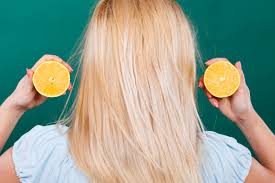 Lemon on hair
