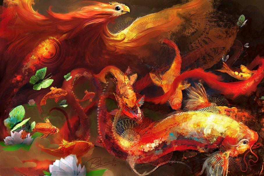 Los peces koi y su significado lost in deep dreams for Como criar peces koi