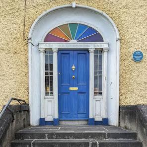 Things to do near Athlone: Door with rainbow fanlight in Birr Ireland