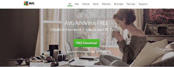 برنامج مضاد الفيروسات AVG Antivirus