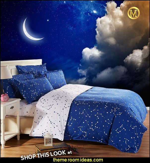 moon stars bedroom ideas - celestial bedroom ideas - moon stars bedding - celestial bedding - moon stars room decor - celestial moon stars wallpaper murals - celestial stars bedroom decor -  - moon stars bedroom ideas - outerspace theme bedrooms - constellation bedding - night sky wall murals - moon stars wallpaper murals - moon stars bedding - space-themed-bedroom-galaxy-space-themed-bedroom-teenage star decorations