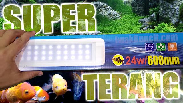 Aquascape, Aquarium Ikan Mas Koki Semua Cocok: Review Lampu LED 60 cm 24 Watt RECENT RCG-618-SW