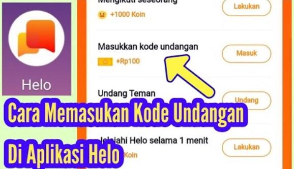 Cara Memasukan Kode Undangan di Hello