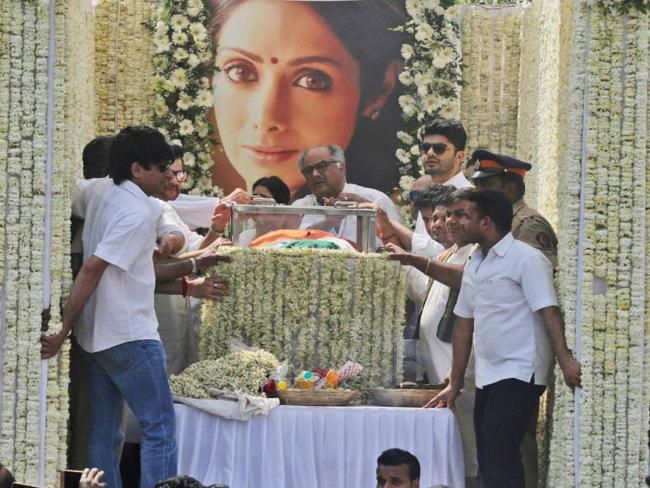 Sridevi funeral pic