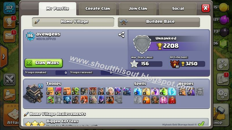 account clash of clans free 2018