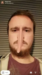 Filter Hidung Panjang di Instagram, Floppy Nose Instagram