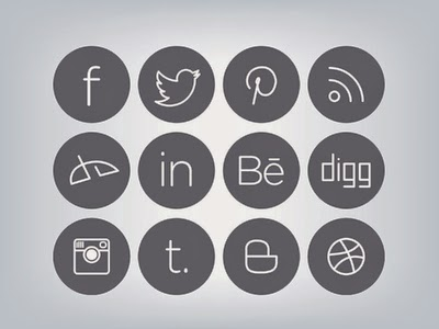 Sleek Social Media Icons